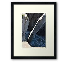 totem pole from above Framed Print