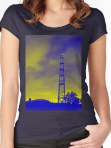 Psychedelic pylon Women's Fitted Scoop T-Shirt