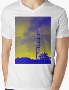 Psychedelic pylon Mens V-Neck T-Shirt
