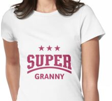 Super Granny (Magenta) Womens Fitted T-Shirt