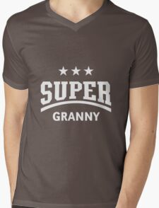 Super Granny (White) Mens V-Neck T-Shirt