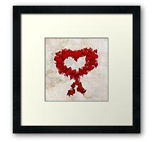 Heart Wreath ♥ Framed Print