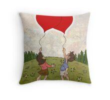 Heart Balloons ♥ Throw Pillow