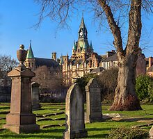Panoramic View of Dunfermline Abbey and City Chambers by Miles Gray