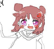 """「バイ」 """"Bye"""" Anime Girl by mihmnop"""