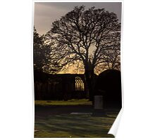 Dunfermline Abbey, Palace and Graveyard Sunset Poster