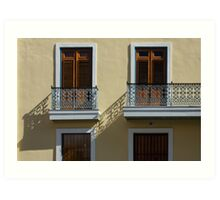 Sophisticated Wrought Iron Shadows - the Beautiful Colonial Architecture of Old San Juan Art Print