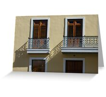 Sophisticated Wrought Iron Shadows - the Beautiful Colonial Architecture of Old San Juan Greeting Card