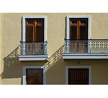 Sophisticated Wrought Iron Shadows - the Beautiful Colonial Architecture of Old San Juan Photographic Print