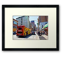 Tour Bus in Manhattan, New York Framed Print