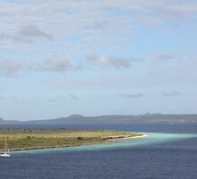 Klein Bonaire islet in the Caribbean by stine1