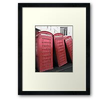 Telephone Box Sculpture, Kingston Upon Thames Framed Print