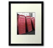 Telephone Box Sculpture, Kingston Upon Thames Framed Print