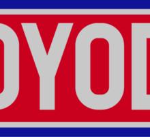 Original Toyota logo - 'Toyoda' Sticker Sticker
