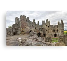 The Ruins of Dirleton Castle. Scotland (Panoramic) Canvas Print