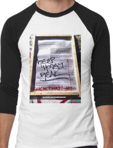Keep Hosier Real - F*CK THAT Men's Baseball ¾ T-Shirt