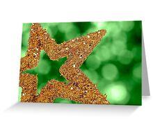 Closeup of golden star Greeting Card