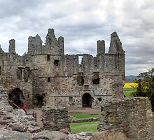 The Grand Hall and North Facade, Dirleton Castle by Miles Gray