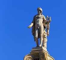 Statue of Apollon on the column, Athens, Greece by elgreko