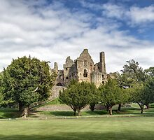 Panoramic View of Dirleton Castle from the Bowling Green by Miles Gray