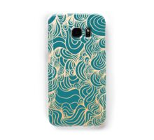 PSYCHOLINES Phone Case- Teal/Gold/White Samsung Galaxy Case/Skin