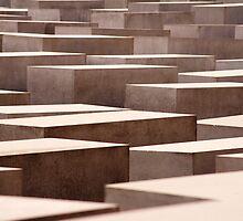 Stelae at the Holocaust Memorial, Berlin by photoeverywhere