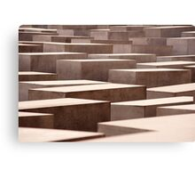Stelae at the Holocaust Memorial, Berlin Canvas Print