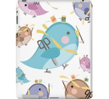 Cute seamstress bird sewing notions iPad Case/Skin