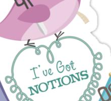 Cute seamstress bird sewing notions Sticker