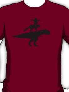 Funny animals dinosaur fox penguin pyramid T-Shirt