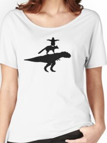Funny animals dinosaur fox penguin pyramid Women's Relaxed Fit T-Shirt