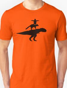 Funny animals dinosaur fox penguin pyramid Unisex T-Shirt