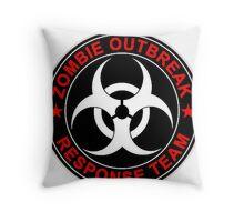 Walking Zombie Response Team Logo Walkers Dead Throw Pillow
