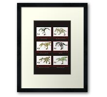 dinosaur chasing joggers anti-motivation Framed Print