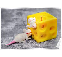 Mice and Cheese Poster