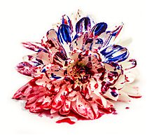 Painted Bloody Flower Photographic Print