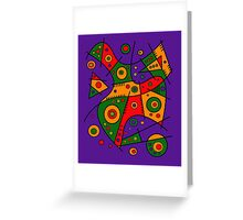 Abstract #240 Pizza Party Greeting Card