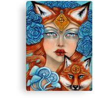 The Fox Maiden Canvas Print