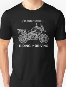 Adventure Bike Style Illustration White Ink for Dark Shirts Unisex T-Shirt