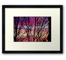 Coloured Skies Framed Print