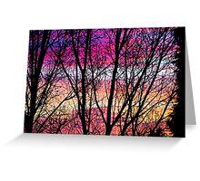 Coloured Skies Greeting Card