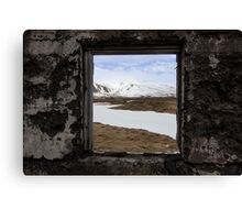 framed view Canvas Print