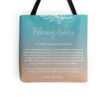 Affirmation - Releasing Anxiety Tote Bag