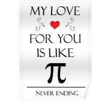 Romantic Pi Message Poster