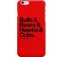 Loyal to Chicago - North Side (Black Print) iPhone Case/Skin
