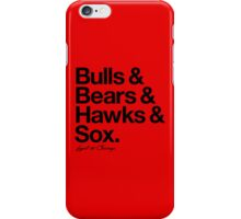 Loyal to Chicago - South Side (Black Print) iPhone Case/Skin