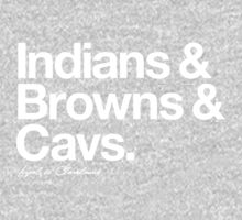 Loyal to Cleveland (White Print) Kids Clothes