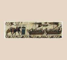 Tardis in the Bayeux tapestry t-shirt by razorcuts