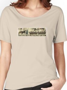 Tardis in the Bayeux tapestry t-shirt Women's Relaxed Fit T-Shirt