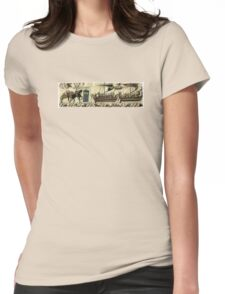 Tardis in the Bayeux tapestry t-shirt Womens Fitted T-Shirt